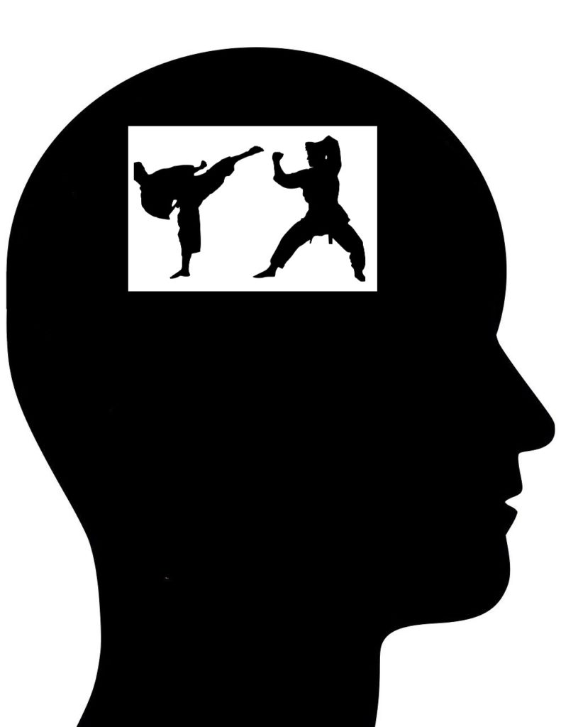 métaphore méditation et karaté mental