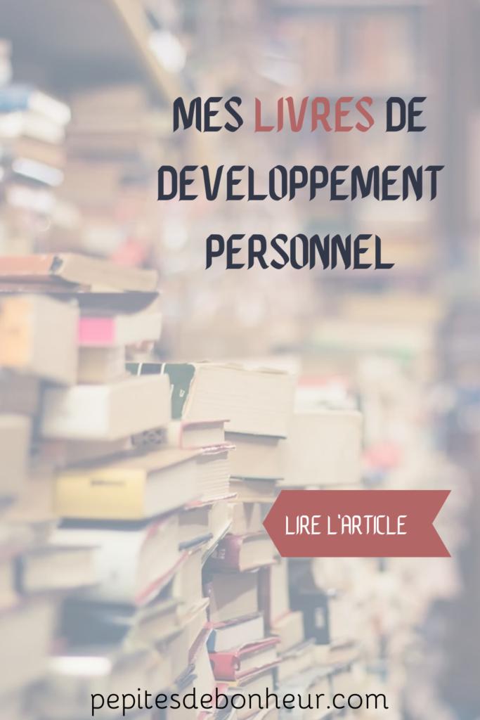 article mes livres de développement personnel, affiche pinterest
