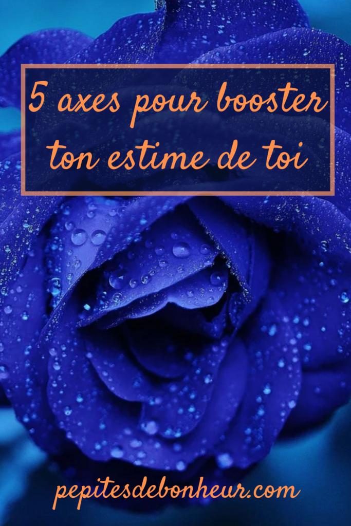 affiche pinterest 5 axes pour booster ton estime de toi