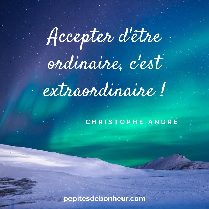 accepter d'être ordinaire c'est extraordinaire christophe andre - vaincre la peur du rejet